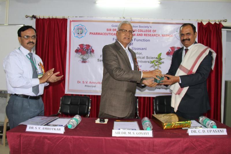 21 Felicitation of DR.C.D.UPASANI