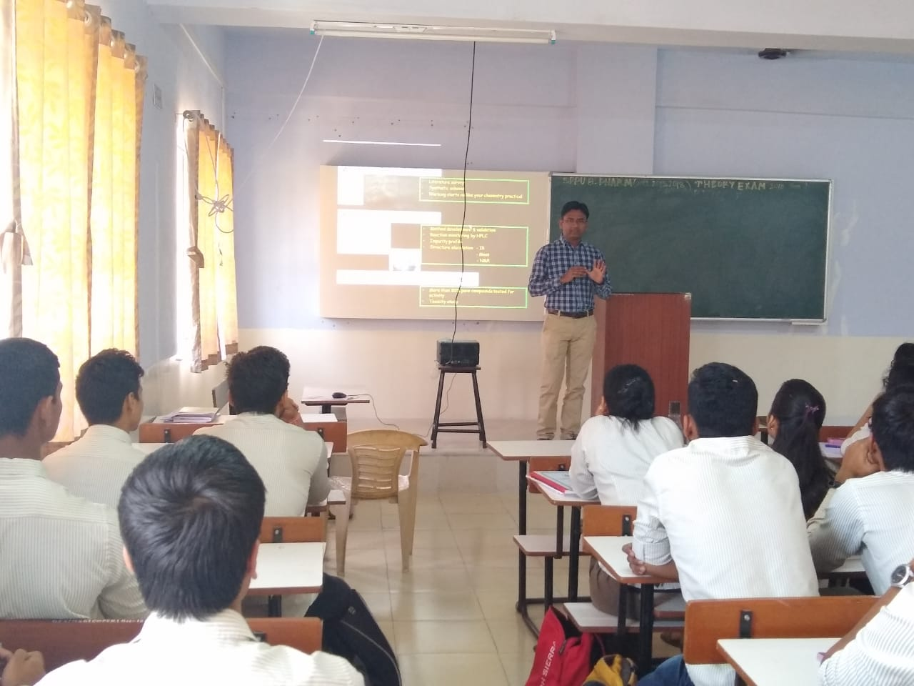 Guest lecture by Mr  Girish Patil Research Officer (Glenmark