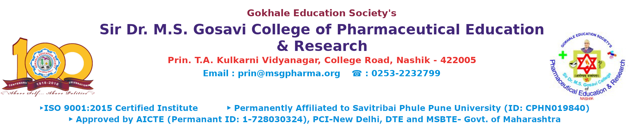 Sir Dr. M.S. Gosavi College of Pharmaceutical Education and Research